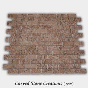 Timber Sandstone Tumbled Brick Mosaic
