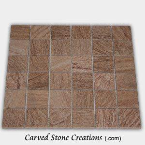 Timber Sandstone 2 Tumbled Square Mosaic Tiles
