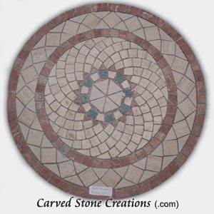Mixed-Marble Mosaic Spiral Rings, Circle