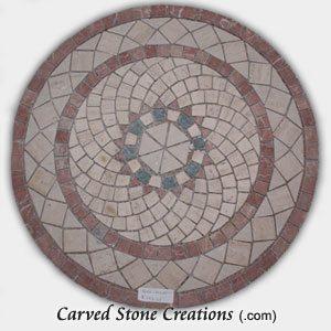 Mixed-Marble Mosaic Spiral Rings, Circle