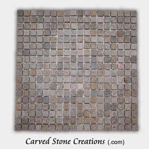 Stella Rosa Quartzite 5/8 Classic Square Mosaic Tiles