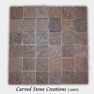 Stella Rosa Quartzite 2 Tumbled Square Mosaic Tiles