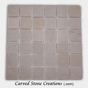 Tahitian Pearl Quartzite 2 Classic Squares Mosaic Tiles
