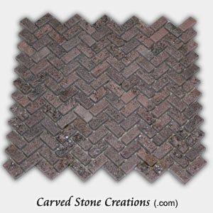 Stella Rosa Tumbled Quartzite Herringbone Mosaic