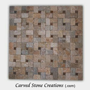 Serengeti Gold Tumbled Quartzite Pinwheel Mosaic