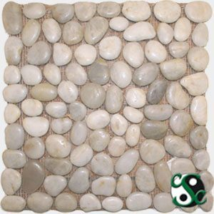White Polished Natural Round Pebbles