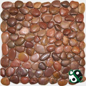 Red Polished Natural Round Pebbles