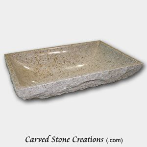 Giallo Fantasia Rock Face Rectangular Sink