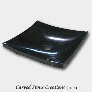 18x16xH4.25 Zen Basin, Absolute Black Granite