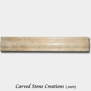 New Crema Marfil Marble Polished Symetrical Dome Rail
