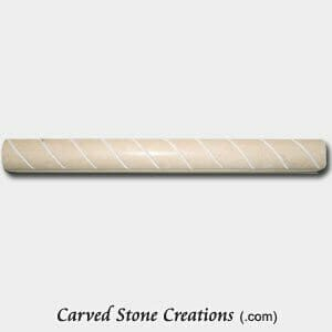 New Crema Marfil Marble Polished Cut Rope Moulding