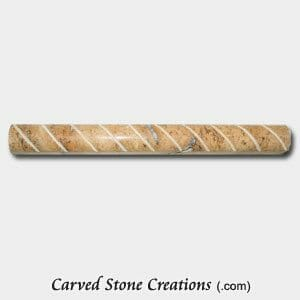 Golden Orient Travertine Polished Cut Rope Moulding