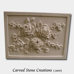 Rose Relief Carving Light Oriental Travertine