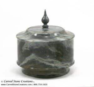 H8 x D7 Marble Urn w/ Cap
