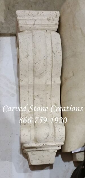Large Traditional Corbel, 6x6xH20, Tuscany Classic Travertine