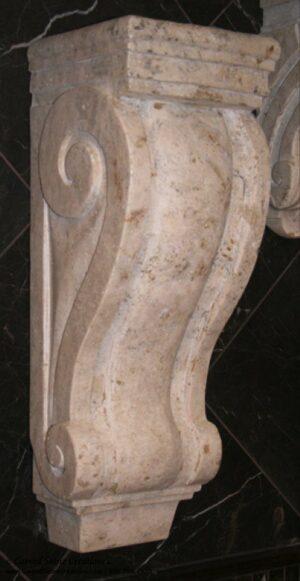 Large Classic Corbel, 8x8xH22.5, Tuscany Classic Travertine