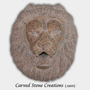 Lion Head Escutcheon Fountain, Giallo Fantasia D