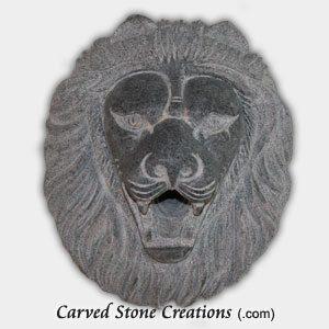 Lion Head Escutcheon Fountain, Charcoal Grey