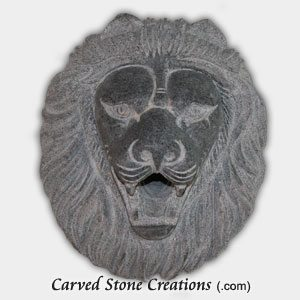 Lion Head Escutcheon Fountain, Charcoal Grey
