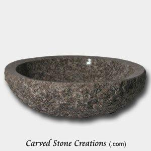 18in Bainbrook Brown Rock Face Granite Vessel Sink