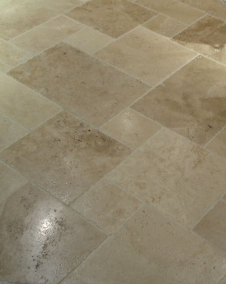 Tuscany Beige Chipped Edge Versailles Pattern Tile Csc