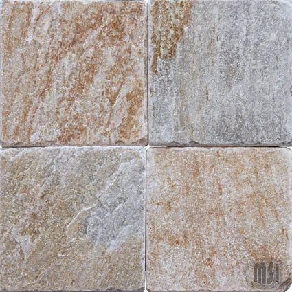 8×8 Serengeti Gold Quartzite Tumbled Tile