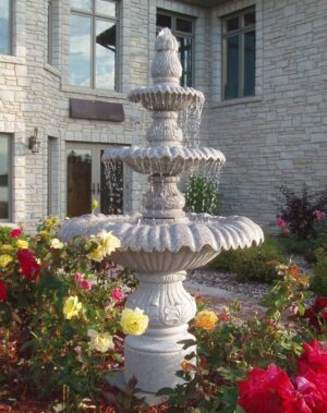 Rose Granite Tiered Fountain