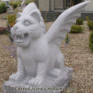 Gargoyle Statue Pair, Charcoal Grey