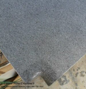13 x 13 x 2 Charcoal Gray Granite Pool Coping, Corner