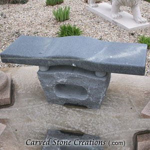 Contour Bench with Ball-Block Base, 4-FT Charcoal Grey