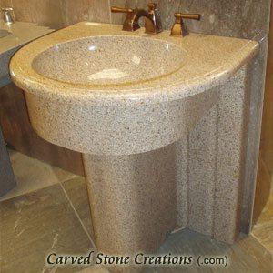 Majesty Giallo Fantasia Pedestal Sink