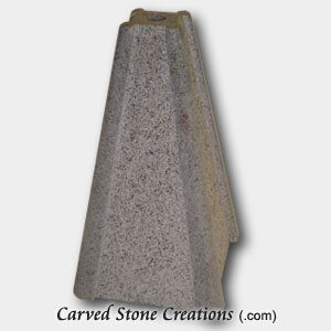 "Tall Pyramid Bubbling Granite Fountain, H14"", Charcoal Grey"
