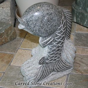 Dancing Fish Polished Spitter, Charcoal Grey