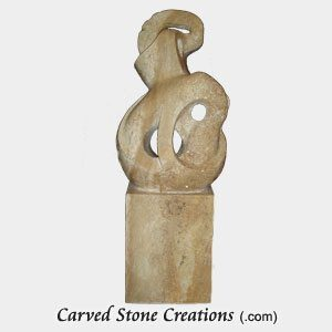 Abstract Sculpture, Golden Orient Travertine