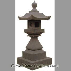 Classic Pagoda Lantern, Giallo Fantasia Dark
