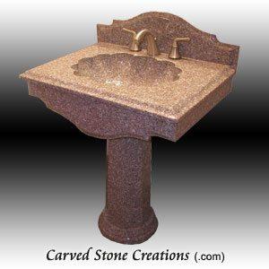 Florence Wild Rose Pedestal Sink