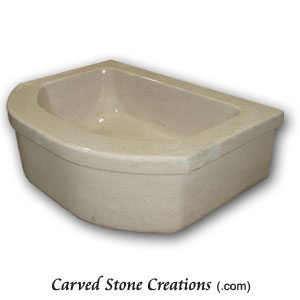 Jerusalem Bone Honed Single Basin Apron Sink
