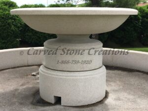 Golden Cypress Granite Wide Urn Fountain