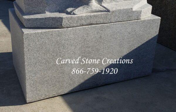 Custom Carved Swan Fountain Pedestal. L28