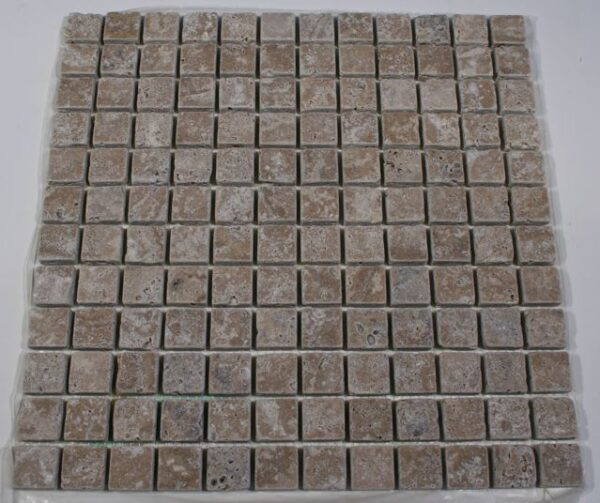 Noce Travertine 1 Tumbled Mosaic Tiles