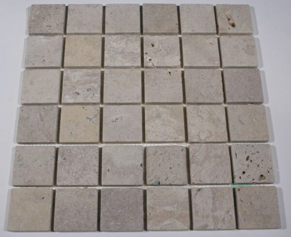 2×2 Golden Orient Travertine Tumbled Mosaic Tiles
