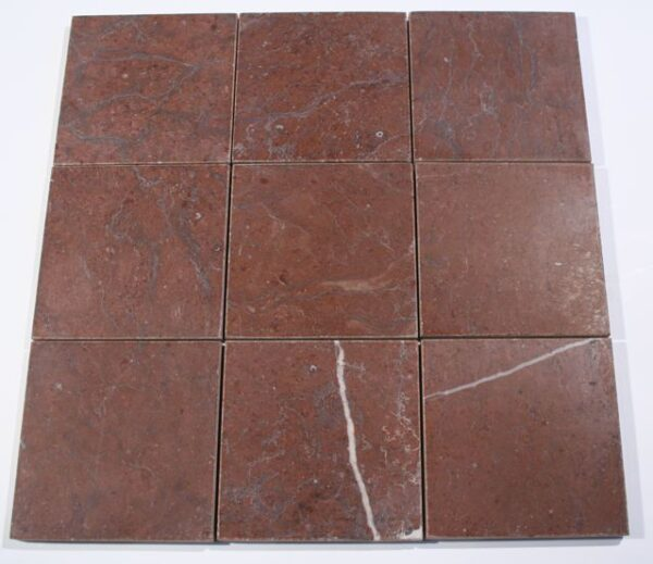 Rojo Alicante Marble Brushed Square Tiles