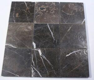 Trilob Brown Marble Brushed Square Tile