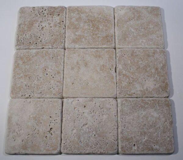 Tuscany Walnut Travertine Tumbled Tile