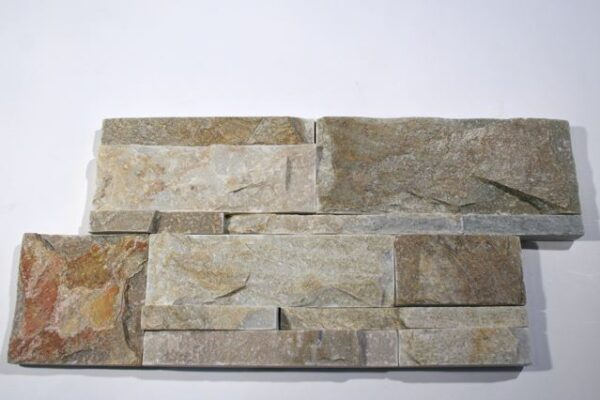 Serengeti Gold Quartzite Interlocking Natural Cleft Flat
