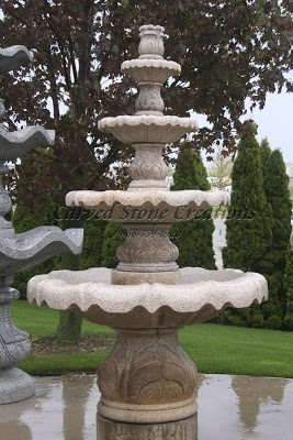 Four large tiered fountain