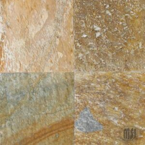 6×6 Serengeti Gold Quartzite Natural Cleft Tile