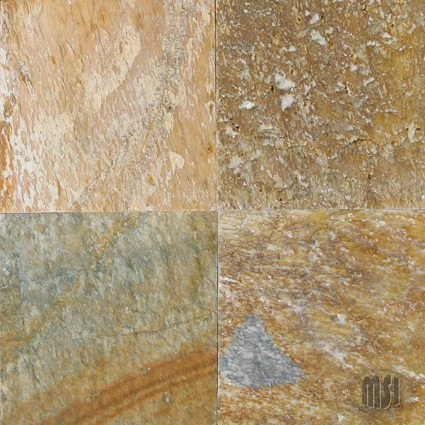 6×6 Serengeti Gold Quartzite Natural Cleft Tile