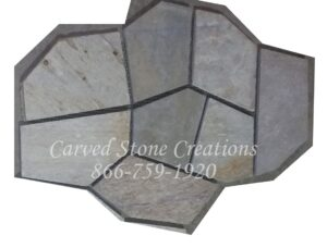 22×33 Serengeti Gold Flagstone Pattern On Mesh