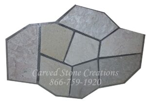 22×33 Tahitian Pearl Flagstone Pattern On Mesh